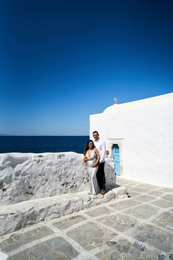 Mykonos maternity photographer